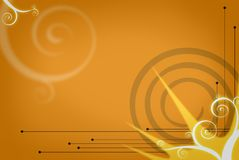 Background. Abstract graphic background orange toned royalty free illustration
