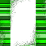 Background. With green stripes frame with space for text Royalty Free Stock Image