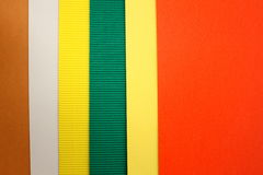 Colored paperboard Royalty Free Stock Image