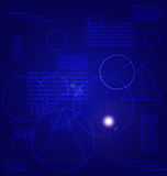 Background. Abstract blue background on a scientific topic for web designers for different needs Stock Photos