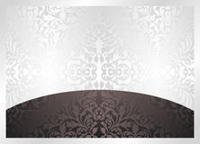 Background. Black and white background with ornaments Royalty Free Stock Image