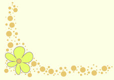 Background. Floral background with small circles Stock Illustration
