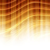 Background. Curved lines are golden, illuminated from below the sun Stock Images