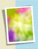 Background. Illustration of photo-frames or text on sunny background royalty free illustration