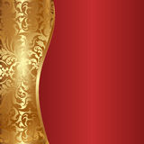 Background. Decorative gold and red  background Stock Photography