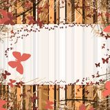 Background. With stripes frame with space for text. butterfly Stock Image