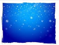 Background. Christmas background with colourful stars and snowflakes Royalty Free Stock Photos