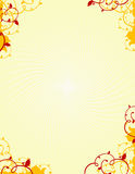 Background. 8.5 x 11 yellow floral background Stock Photos