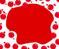 Background. Red background from spreading spots of blood vector illustration