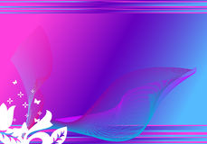 Background. Blue/pink background with many lines on top. It remembers spring or summer time vector illustration