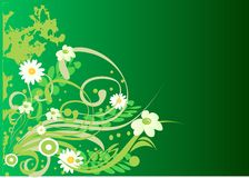 Background. Decorative background with floral illustration royalty free illustration