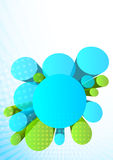 Background with 3d circles Royalty Free Stock Photo