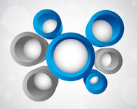 Background with 3d circles. Abstract illustration Royalty Free Stock Photo