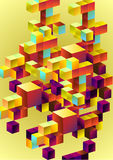 Background from 3d cubes. Background from colors 3d cubes stock illustration