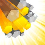 Background with 3d element. In orange color Stock Photos