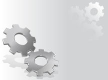 Background with 3d gears. Illustration with two 3d gears Stock Photos