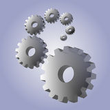 Background with 3D gears Stock Photos
