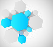 Background with 3d hexagon Stock Photo