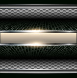 Background 3d metallic. With banner for text Royalty Free Stock Photos