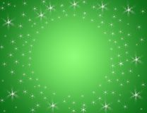 Background. Green background whit little stars Stock Images