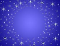 Background. Blue whit stars Royalty Free Stock Photo