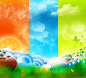 Background. Landscape ,cloud's colorful background Stock Photography