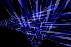 Background. Abstract blue perspective space with black background Stock Images