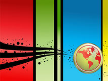 Background. Abstract colorful ,world background illustration Stock Images