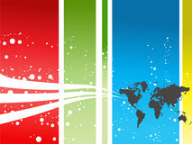 Background. Abstract colorful ,world background illustration Royalty Free Stock Images