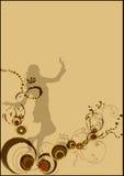 Background. A illustration of a grunge background vector illustration