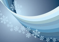 Background. Christmas background with lines and snowflakes Royalty Free Stock Images