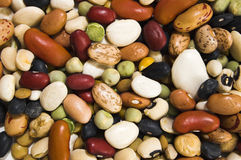 Background. Mix of colorfull beans background Stock Image