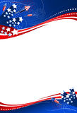Background 4th of July. Use either the entire composition or just the upper or the lower part, just the way, you like it. File includes clipping path vector illustration