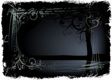 Background. Black stylish backgrounds with ornaments Royalty Free Illustration