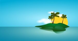 Background. Stylish backgrounds with blue sky and sea and sun Stock Photos