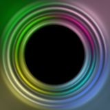 Background. Black background with colored circles vector illustration