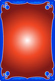 Background. A abstract background illustrated with a frame which has white inside red Stock Images