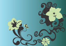 Background. Illustration of a floral background Stock Photo