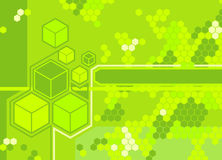 Background. A background featuring hexagons vector illustration