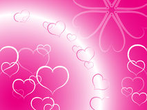 Background. Stack of hearts like background Royalty Free Stock Photography
