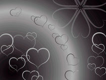 Background. Stack of hearts like background Royalty Free Stock Image