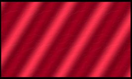Background. Red silky cloth material with wonderful waves Stock Photography