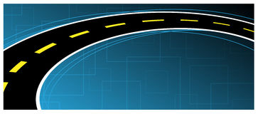 Background. Road on the blue background Royalty Free Stock Photo