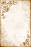Background. With flowers on old paper Stock Photo