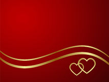 Background. Elegant red background. Vector illustration Royalty Free Stock Photos
