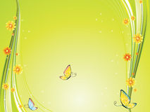 Background. Vector color background flower and butterfly illustration Royalty Free Stock Images
