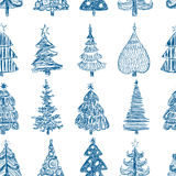 Background with the christmas trees Royalty Free Stock Photos
