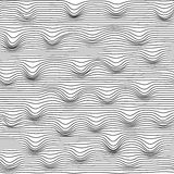 Background of abstract black wavy lines, seamless pattern Stock Photos