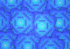 Background with abstract blue flowers Royalty Free Stock Images