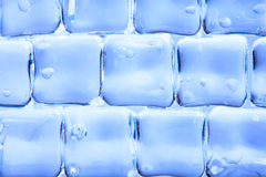 Background of abstract blue ice cubes Stock Images